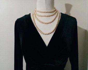 BCBG MaxAzria Little Black Velvet Dress- size L