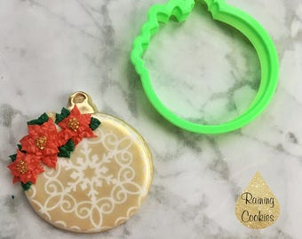 Floral Ornament VIP Cookie Cutter. Designed by @raining.cookies