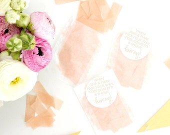 Personalised Wedding Confetti Stickers (colour text)