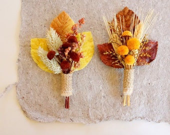 Dried Flower Boutonniere, Rustic Boutonniere, Fall Boutonniere, Wheat Boutonniere, October Wedding, Fall Lapel Pin, Boutineer, AUTUMN DAY