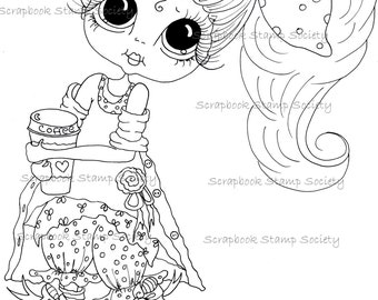 INSTANT DOWNLOAD Digital Digi Stamps Big Eye Big Head Dolls IMG834 My Besties Digi Miss Img741 By Sherri Baldy