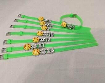 Softball Players Number Bracelet