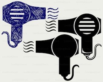 Hair dryer svg/clipart/hair dryer svg/hair dryer silhouette/hair dryer cricut cut files/hair dryer clip art/digital download/designs/svg