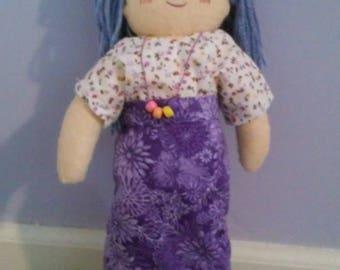 """Zinnia doll, 16"""" OOAK felt doll by KraftySpaghetti"""