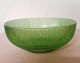 Vintage E.O. Brody Green Glass Bowl