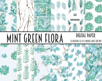 digital paper, digital papers, floral digital paper, watercolor, Scrapbooking Paper, digital paper pack, digital scrapbook, digital pattern,
