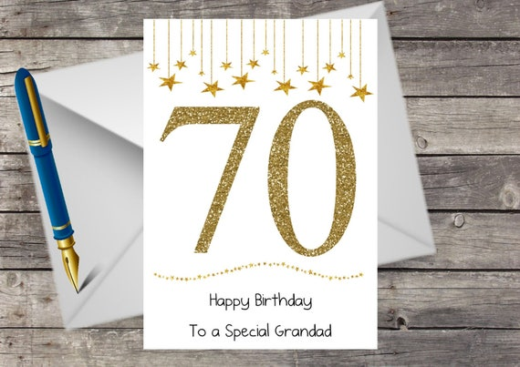 Personalised handmade 70th birthday card husband dad wife like this item bookmarktalkfo Images