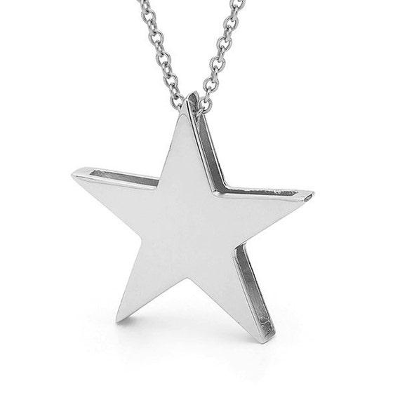 White gold big star pendant 9kt white gold star necklace white gold big star pendant 9kt white gold star necklace aloadofball Choice Image