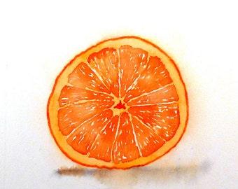 Kitchen Wall Decor, Fruit Art Print, Minimalist, Orange painting, Orange Kitchen Art, Watercolor Painting, Still life, LaBerge