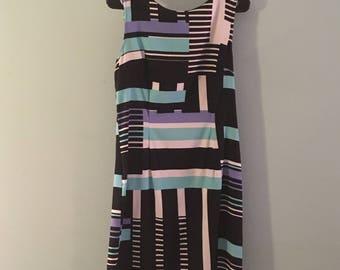 1960's inspired  jumper dress- size 12