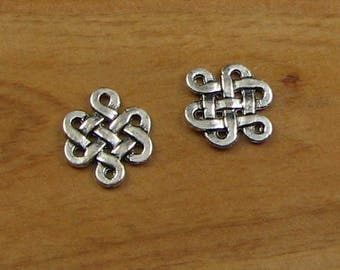 Celtic Infinity Metal Knot Charms Pendant Connector Bracelet Necklace Earring Supply Endless knot