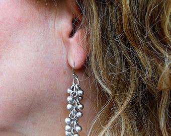 Silver earrings, bohemian earrings, unique earrings, dangling earrings, silver drop earrings, boho jewelry, summer jewelry, silver jewelry