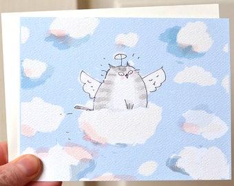 Cloud Ride - Cat Sympathy Card - Cat Heaven - Cat Loss