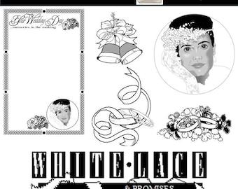 Wedding Clip Art, Wedding Clipart, Bride Clip Art, PNG Images, INSTANT DOWNLOAD, Scrapbooking