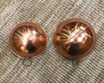 Pair Copper Bowls