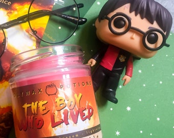 BOY WHO LIVED // Harry Potter Themed Candle