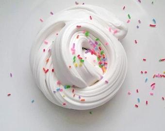 Birthday Cake Slime - Butter Slime - Cake Scented Butter Slime - Cake Batter Slime - Butter Slime With Sprinkles