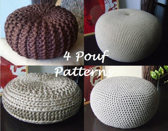 Pouf Häkeln crochet pattern 4 knitted crochet pouf floor cushion