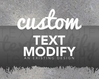 Custom Text Modify