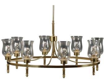 Beautiful Large Brass Chandelier by Svend Mejlstrøm