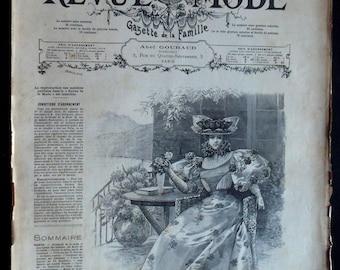 Review the 1895 fashion magazine prints fashion engravings antique fashion print