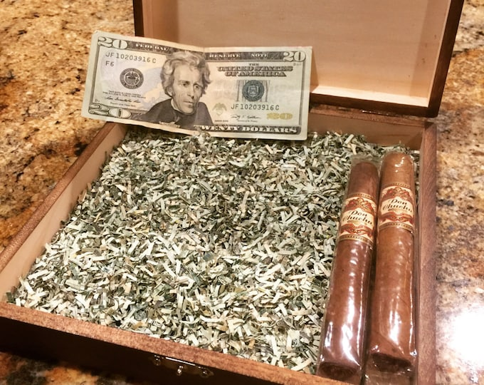 Shredded Money - 10 Grams Genuine Real Authentic Paper Money, Cigar Box Filler Option, Crinkle Shred, Crinkle Cut Fill, Gift Box Bag Filler