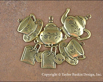 Tea Time Charms Mixed Lot - 6 Pieces