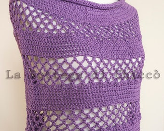 Summer poncho, ALL COLORS AVAILABLE, crochet poncho, shawl, summer wrap, cotton wrap, 100% hand made.