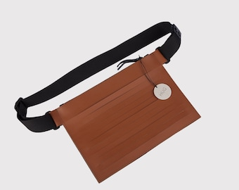 Tabac cut-out leather belt bag