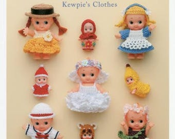 """Japanese Handicraft Book""""Cute Crochet Weave with Embroidery Thread Dress up of Kewpie Dolls 75""""[4021907718]"""