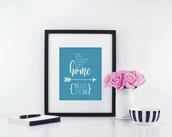 Best Friend Moving Gift | Moving Away Gift | Long Distance Gift | Going Away Gift | Graduation Gift | GPS Coordinates | Latitude Longitude