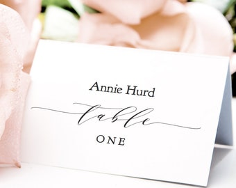 Table Place Cards Etsy - Place card setting template