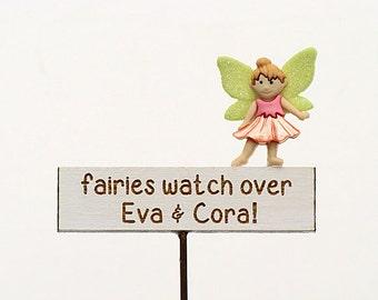 Personalised Fairy Garden Sign - Custom Sign - Fairy Garden Sign - Miniature Garden Sign, Handmade by Jennifer