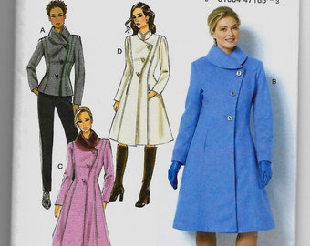 B6497 Butterick Jacket and Coat Sewing Pattern Sizes 8-16 and 16-24