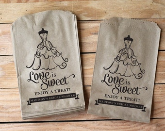 Love Is Sweet Bridal Shower Treat bags