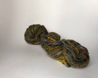 OOAK Patchouli Handspun Thick and Thin Single