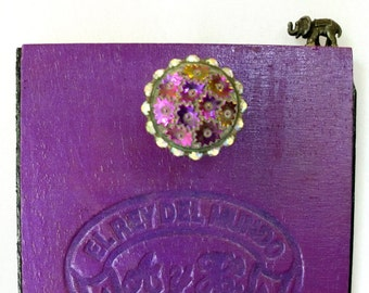 Elephant on the Edge. Pink and Purple. Wall Decor.