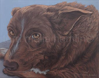 Custom Dog Portrait, 8x10 Pet Portrait, Custom Pet Portrait, Painted Pet Portraits, Dog Portrait Custom, Acrylic Painted Portrait