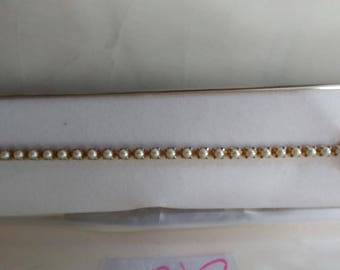 Antique pearl bracelet