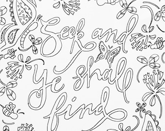 scripture coloring page | adult coloring, meditation, devotional coloring page, matthew 7, Bible verse coloring page