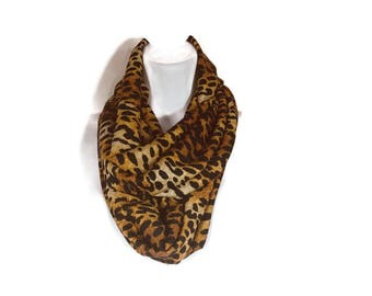 FREE SHIPPING Leopard Print Scarves Lightweight Leopard Print Sweater Knit Scarves Leopard Print Infinity Scarves Cheetah Infinity Scarves