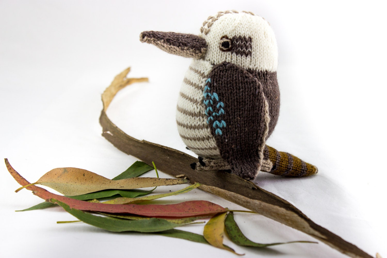 KNITTING PATTERN, Toy Knitting Pattern, Kookaburra, Wildlife Toy ...