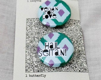 Vegan buttons   Set of two