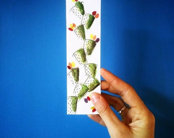 Boookmarks/handmade/watercolor bookmarks/bookmark hand Painted Watercolor