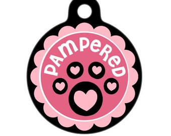 Pet Tag - Pampered Paw Pet Tag, Dog Tag, Cat Tag