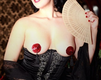 Burlesque Pasties w/ Tassels by Deanna Danger Designs (Sizes L or XL, colors customizable)