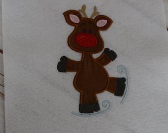 Reindeer Shirt,Christmas T-Shirt, Personalized T-Shirt, Personalized Bodysuit, Winter Shirt, Girls Christmas Shirt, Boys Christmas Shirt
