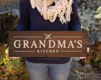 Grandma's Kitchen, Gift For Grandmother, Kitchen Signs, Kitchen Decoration, Custom Wall Sign, Wood Sign, Wooden Signs (GP1038)