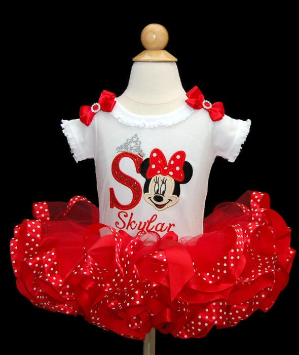 a4a428ea minnie mouse, 1st birthday, tutu, first birthday, minnie mouse tutu,  personalized, birthday shirt, minnie mouse outfit, ribbon trim tutu