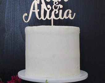 Personalized Names Wedding Cake Topper | Custom Name | Buttercream Collection